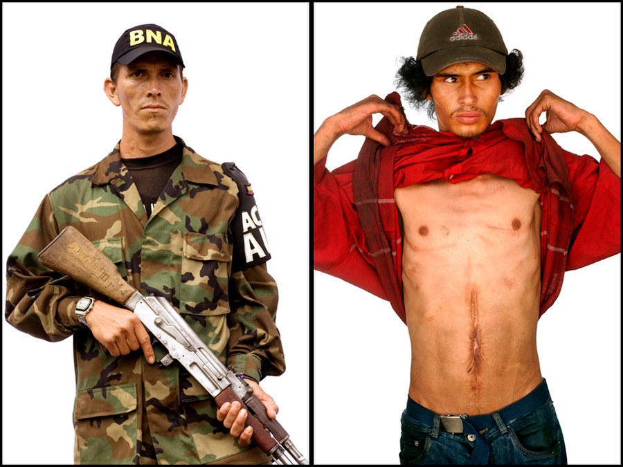 colombia paramilitary portrait